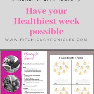 Free Printable weekly health checklist and tracker