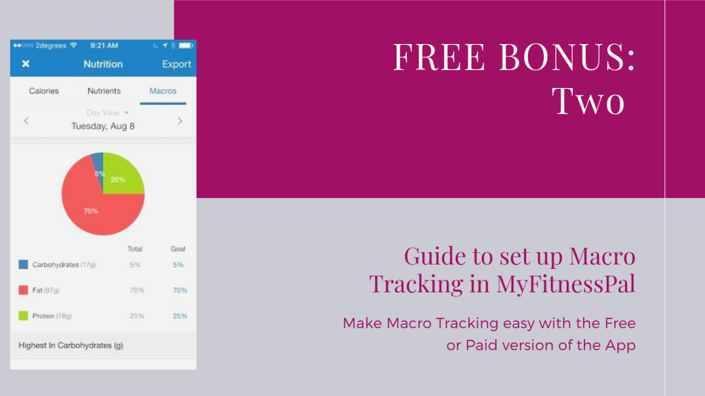 How to track macros in MyFitnessPal