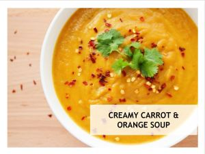 Creamy Carrot and Orange Soup